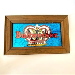 Vintage Budweiser Foil Art Hanging Bar Picture